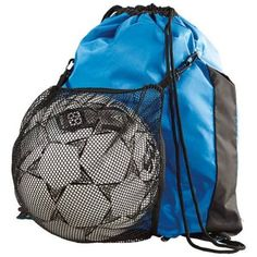 Convertible mesh pouch stashes when not in use Drawstring main compartment Polyester Ball in picture is not included. Volleyball Gear, Backpacks For Sale, High Five, Duffel Bag, Bag Sale, Drawstring Backpack, Convertible, Sportswear, Pouch