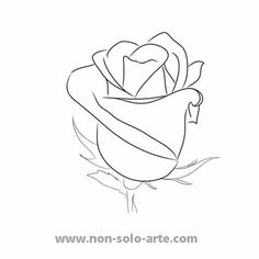 Easy drawings of a rose rose drawing outline rose outline thread needle and yarn crafts rose . Rose Outline Drawing, Rose Drawing Simple, Flower Outline, Simple Rose, Outline Drawings, Tattoo Outline, Easy Drawings, Flower Art, Prison Drawings