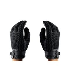 Leather Crochet Touchscreen Gloves Size 8.5 | Mujjo