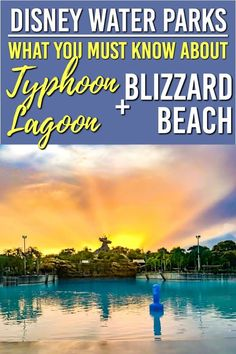 Wondering about the water parks at Disney World? Looking for Disney Water park tips? We have everything you need for a fun time at Blizzard Beach and Typhoon Lagoon Disney World Water Parks, Walt Disney World Vacations, Disney Trips, Disney Parks, Disney Disney, Disney Travel, Disney Vacation Planning, Disney World Planning, Vacation List