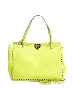 Valentino yellow leather studded detail shoulder bag | BLUEFLY up to 70% off designer brands