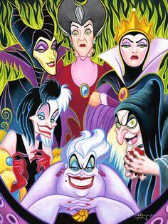 "Disney Fine Art:""Misleading Ladies"" by Tim Rogerson"