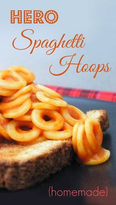 Hero Spaghetti Hoops | Tinned Tomatoes Veggie Recipes, Whole Food Recipes, Vegetarian Recipes, Snack Recipes, Snacks, Healthy Meals For Kids, Kids Meals, Healthy Cooking, Recipes