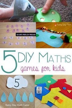 5 DIY Math Games for Kids