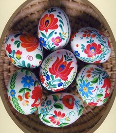 Easter Egg DIY -hand-painted European folk art design