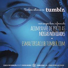 Agora você pode acompanhar de perto as nossas novidades ♥ Conheça o nosso Tumblr: http://esmalteriaclub.tumblr.com/ (aproveite e assine o nosso feed e não perca nenhuma #novidade e #promocao)