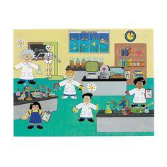 Great for science class!  12 DIY Super Science! Lab Sticker Scenes - OrientalTrading.com