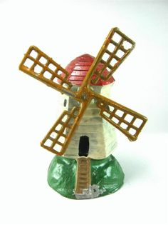 VINTAGE FRANCE LEAD TOY FARM WINDMILL