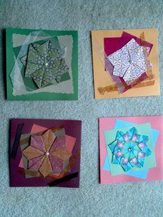 Tea bag folded cards
