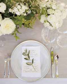 Place Setting for Wedding Reception