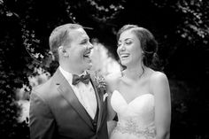 candid wedding portraits couple laughing