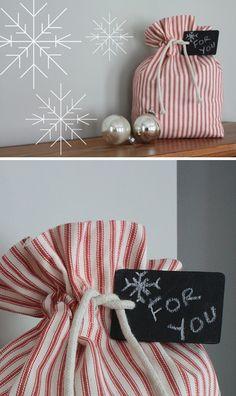 DIY: reusable gift bag. so cute and functional!