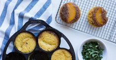 Upside-Down Peach Cornbread Cakes