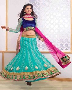 Ethnic Glam Lehenga seagreenpinkholly9503