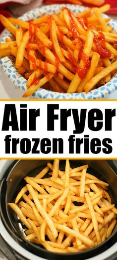 Frozen french fries air fryer style are the best! Crispy just like at a restaurant but healthier since you do NOT have to fry them in oil. Air Fryer Oven Recipes, Air Frier Recipes, Air Fryer Dinner Recipes, Air Fryer Recipes For French Fries, Frozen French Fries Recipe, Air Fry French Fries, Cooking French Fries, Kitchen Recipes, Cooking Recipes
