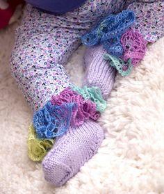 Wildflower Ruffle Baby Booties