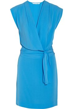 belted silk wrap dress-DVF