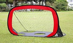 Use this 2-in-1 soccer goal to play informal games in the yard or flip it upside down to practice taking shots on a defended goal