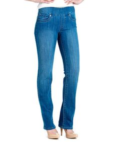 Light Blue Wash Straight Fit Denim - Women #zulily #zulilyfinds