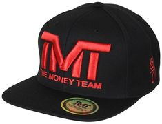 b47d134b90c The Money Team TMT Floyd Mayweather Courtside Snapback Hat (Black Red)