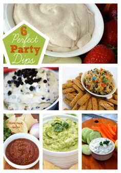 Make these easy party dip recipes. Your guests will love them! www.skiptomylou.org