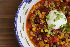 Slow Cooker Turkey Chili - FITs Simple, 21-day fix recipe
