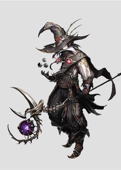 monster, game, concept art, character, illust, magician