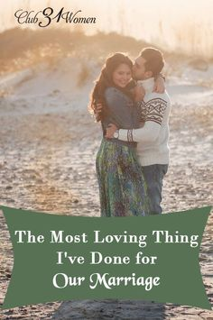 If you've been wondering what you can do to love your spouse better? To improve your marriage? Here's the most loving thing you could ever do! The Most Loving Thing I've Done for Our Marriage ~ marriage, marriage tips Marriage Help, Marriage Prayer, Biblical Marriage, Healthy Marriage, Marriage Humor, Strong Marriage, Marriage Relationship, Marriage And Family, Happy Marriage