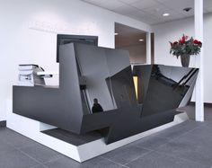 stone reception desk