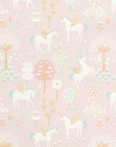Girls Bedroom Wallpaper, Unicornios Wallpaper, Nursery Wallpaper, Wallpaper Paste, Wallpaper Online, Wallpaper Designs, Kindergarten Wallpaper, Fantasy Bedroom, Wallpaper Companies
