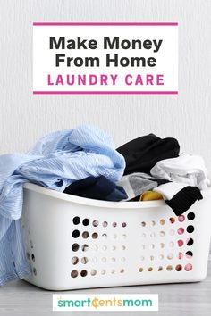 Make Money from Home Jobs: Laundry CareI'm always looking for make money from home jobs: Laundry Care is a great way for stay at home moms to make money from home. | Smart Cents Mom Work From Home Jobs, Make Money From Home, Way To Make Money, Make Money Online, How To Make, Earn Extra Income, Earn Extra Cash, Extra Money, Best Online Jobs