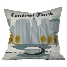 Anderson Design Group Central Park Snow Throw Pillow at Joss & Main