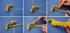 How to make flower crown. I used to make this when I was little!
