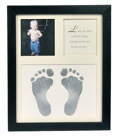 A timeless baby footprint keepsake frame that will always be cherished. Our adorable and affordable footprint picture frame makes a thoughtful new baby gift. Shop our great selection of baby handprint frames now!
