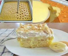 Banana Pudding Cake--★★★★ 1 white or yellow cake mix & ingredients to prepare, 2 boxes banana creme instant pudding, 4 cups cold milk, 1 cool whip, 20 vanilla wafers--- Pepare cake mix, bake as directed, cool about 10 mi, poke holes with wooden spoon, fill holes with prepared banana instant pudding, & spread evenly, top with sliced bananas & cool whip, sprinkle eith crushed vanilla wafers, refrigerate at least 2 hours