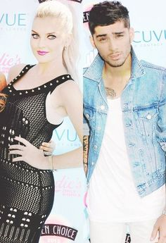 Perrie Edwards and Zayn Malik on the red carpet