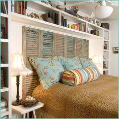 shutters headboard - I'm lovin it!!