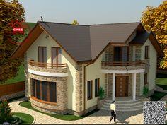 Village House Design, Bungalow House Design, Village Houses, Tiny House Design, New House Plans, Dream House Plans, New Home Designs, Home Design Plans, House Design Pictures