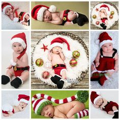 Weihnachten häkeln Neugeborene Fotografie Requisiten, Winter gestrickte Baby Kostüm, Boutique handgemachte nette Baby Hut Kleinkind Kleidung, # P0061(China (Mainland))