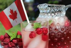 Around here whenever there's a party or celebration, I like to have a signature cocktail or punch. So in honour of Canada Day which we Canadians celebrate on July 1st, here's a cocktail all red and white. Okay, the ice cubes count as the white and they're actually clear, but who's judging. It all starts …