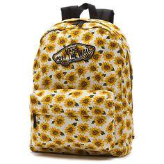 NEW! Vans Realm Sunflower Backpack