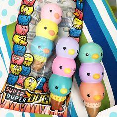 Super Jumbo Ducky Triple scooped icecream squishy *licensed*