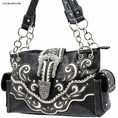 Cowgirl Bling Ranch, LLC - Concealed Carry Buckle Scroll Purse Black, $39.99 (http://www.cowgirlblingranch.com/products/concealed-carry-buckle-scroll-purse-black.html)