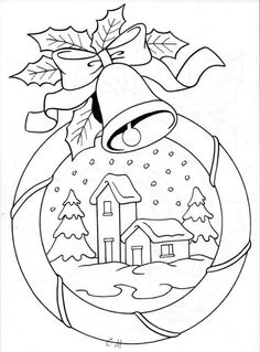 Christmas Templates For Creative Coloring Christmas Colors, Christmas Art, Christmas Ornaments, Christmas Decorations, Christmas Coloring Pages, Coloring Book Pages, Embroidery Patterns, Hand Embroidery, Theme Noel