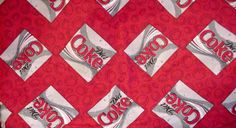 CocaCola Fabric DIet Coke OOP Red Cotton Flannel by ITSYOURCOUNTRY, $9.99