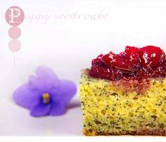 Poppy seeds cake and cherry ham