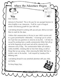 Preschool Welcome Letter Template Learning and Teaching with Preschoolers Wel E Parents Learning and Teaching with Preschoolers Wel E Parents First Day Of Preschool Wel E Ideas Parent Letters From Teachers, Teacher Welcome Letters, Letter To Students, Letter To Teacher, Parents As Teachers, Classroom Welcome Letter, Kindergarten Welcome Letter, Welcome To Preschool, Preschool Letters
