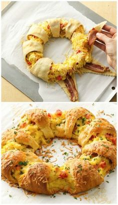 This bacon, egg, and cheese brunch ring is perfect for a breakfast on the go or a summer party!