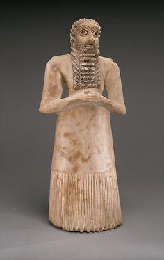 Standing male worshiper, ca. 2900–2600 B.C., Sumerian. The Metropolitan Museum of Art, New York.