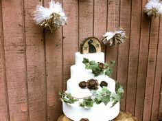 Rustic wedding cake topper wooden country forest by MomoRadRose, $25.00